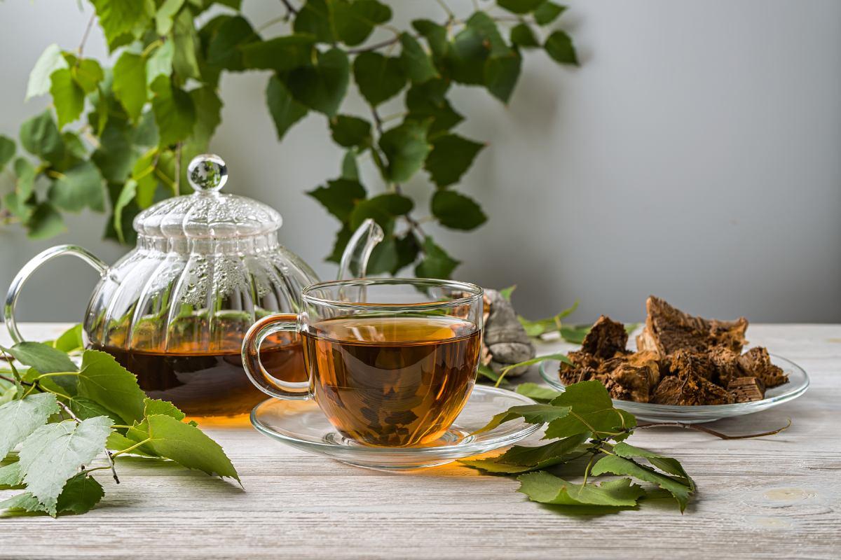 Liečivý čaj z čagy